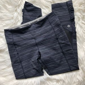 Lululemon Pace Rival Crop in Cyber Stripe Blue 4